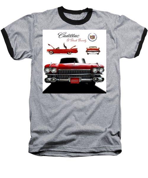 Cadillac 1959 Baseball T-Shirt by Gina Dsgn