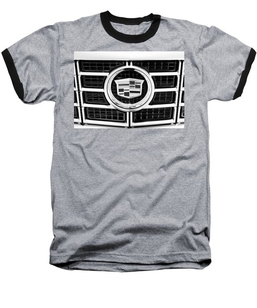 Cadillac Emblem Front Bw Baseball T-Shirt