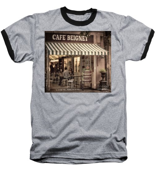 Cafe Beignet 2 Baseball T-Shirt by Jerry Fornarotto
