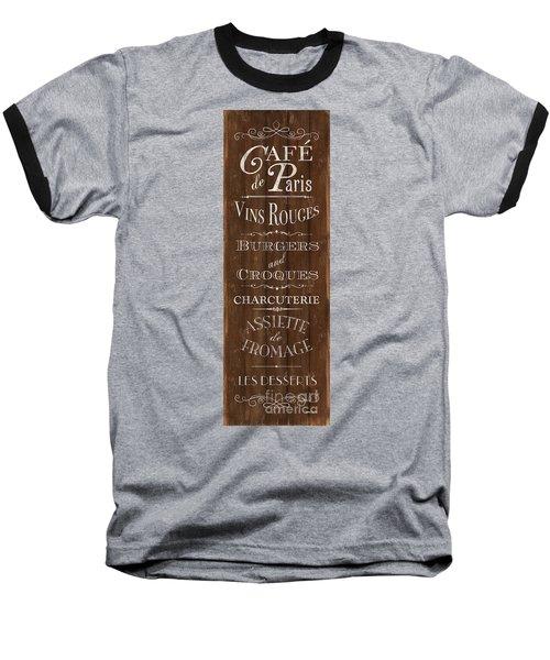 Baseball T-Shirt featuring the painting Cafe De Paris 1 by Debbie DeWitt