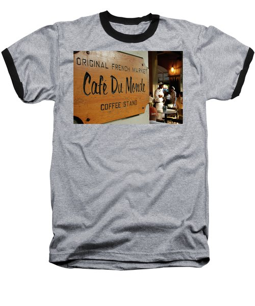 Cafe Du Monde Baseball T-Shirt