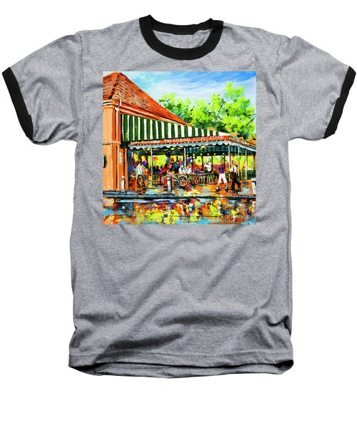 Cafe Du Monde Lights Baseball T-Shirt by Dianne Parks