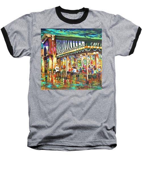 Baseball T-Shirt featuring the painting Cafe Du Monde Night by Dianne Parks