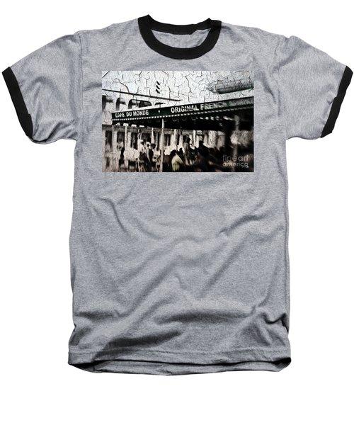 Cafe Du Monde Baseball T-Shirt by Scott Pellegrin