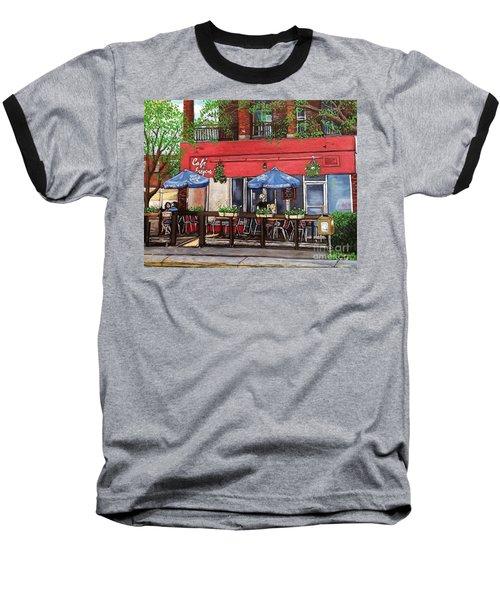 Cafe Frejus Verdun Baseball T-Shirt