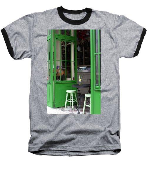 Cafe In Green Baseball T-Shirt