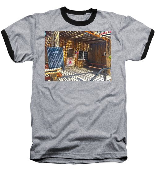 Cafe In Stripes Baseball T-Shirt
