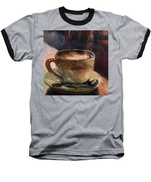 Cafe Love Coffee Painting Baseball T-Shirt by Michele Carter