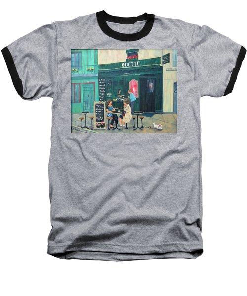 Cafe Odette Baseball T-Shirt by Diane Arlitt