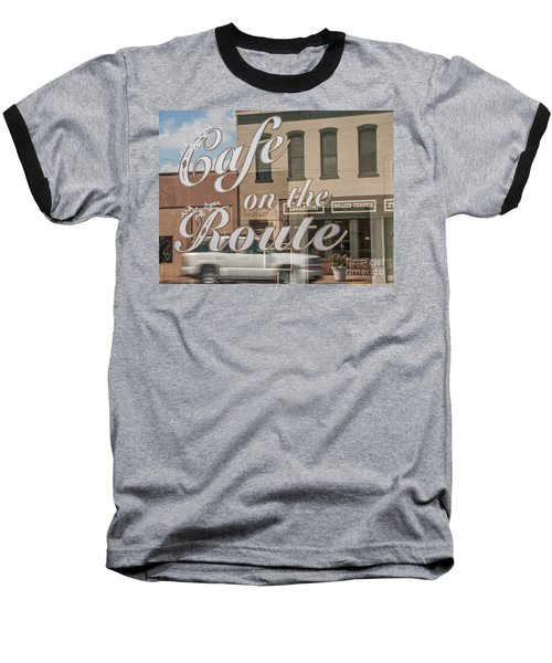 Baseball T-Shirt featuring the photograph Cafe On The Route by Sue Smith
