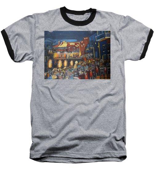 Cafe Scene At Night Baseball T-Shirt