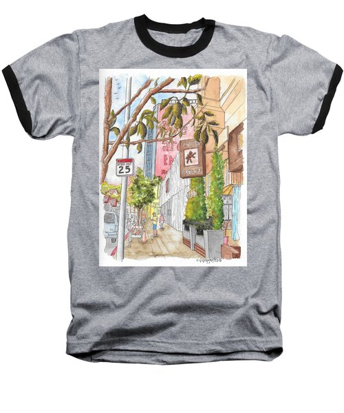 Cafee Primo In Sunset Plaza, West Hollywood, California Baseball T-Shirt by Carlos G Groppa