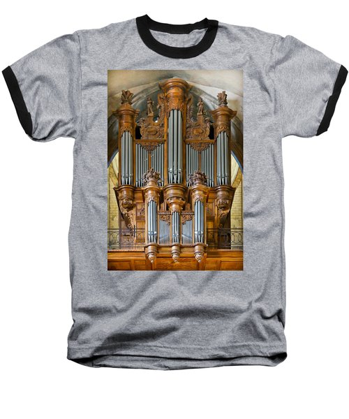 Cahors Cathedral Organ Baseball T-Shirt