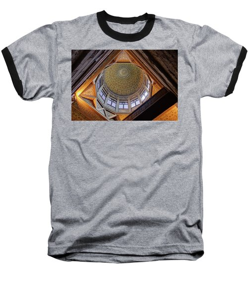 Cairo Nilometer Baseball T-Shirt by Nigel Fletcher-Jones