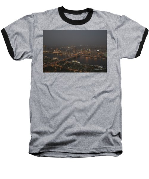 Cairo Smog Baseball T-Shirt by Darcy Michaelchuk