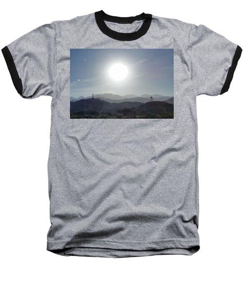 Cajon Pass Sunset Baseball T-Shirt by Karen J Shine
