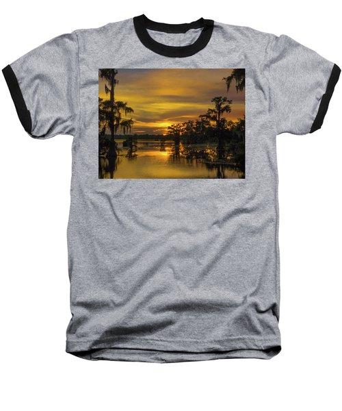 Cajun Vikings Baseball T-Shirt by Kimo Fernandez