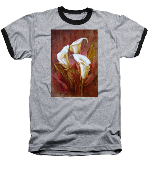 Cala Lillies Bouquet Baseball T-Shirt by J- J- Espinoza