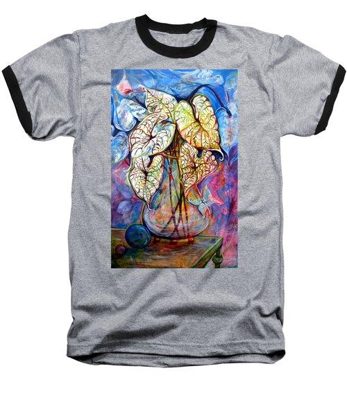 Caladium Glass Creation Baseball T-Shirt