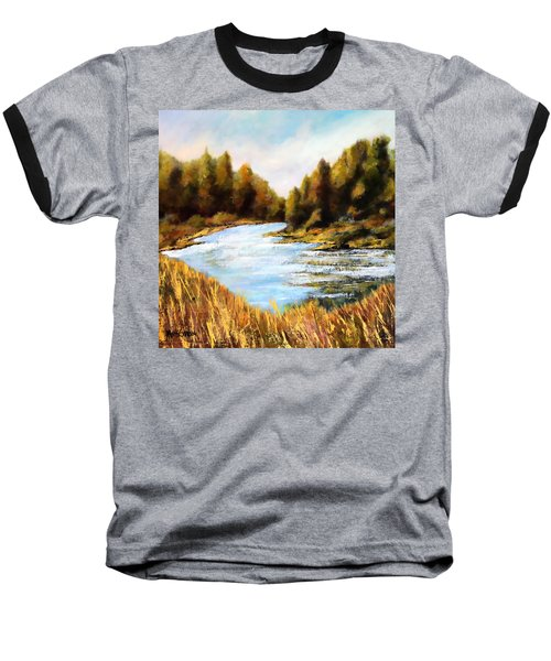 Calapooia River Baseball T-Shirt by Marti Green