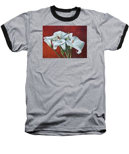 Baseball T-Shirt featuring the painting Calas by Natalia Tejera