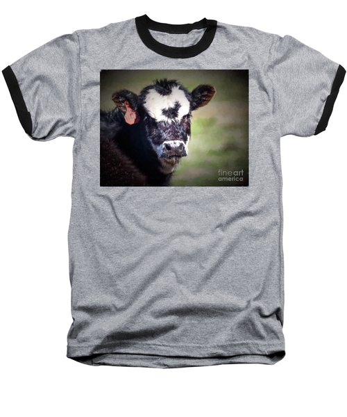 Calf Number 444 Baseball T-Shirt by Laurinda Bowling