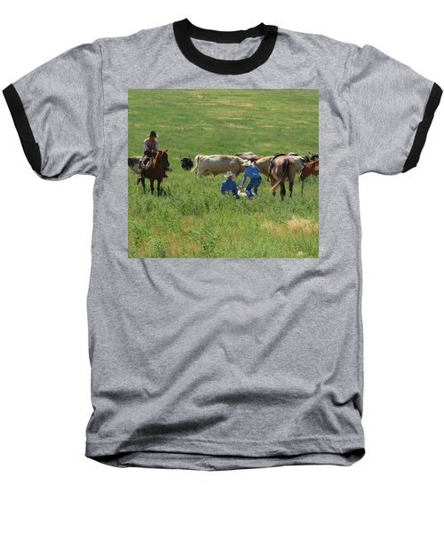 Calf Roping Baseball T-Shirt