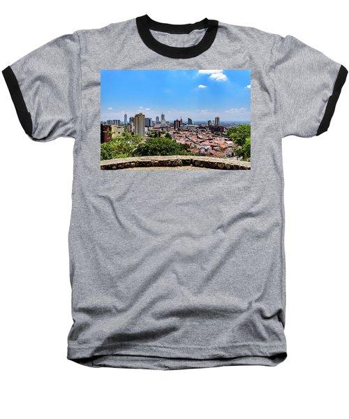 Cali Skyline Baseball T-Shirt by Randy Scherkenbach