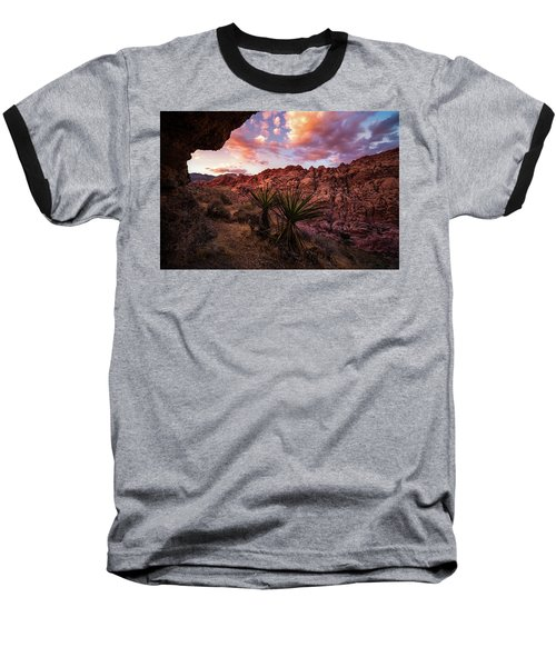 Calico Sunset Baseball T-Shirt by Bjorn Burton