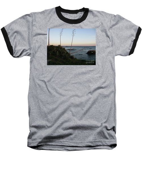 California At Twilight Baseball T-Shirt by Mini Arora