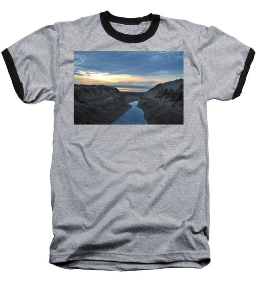 California Beach Stream At Sunset - Alt View Baseball T-Shirt