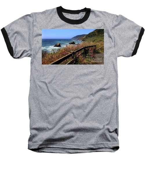 Baseball T-Shirt featuring the photograph California Coast by Joseph G Holland