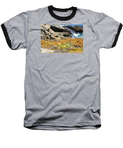 California Coastal Flora Baseball T-Shirt