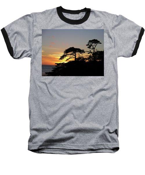 California Coastal Sunset Baseball T-Shirt