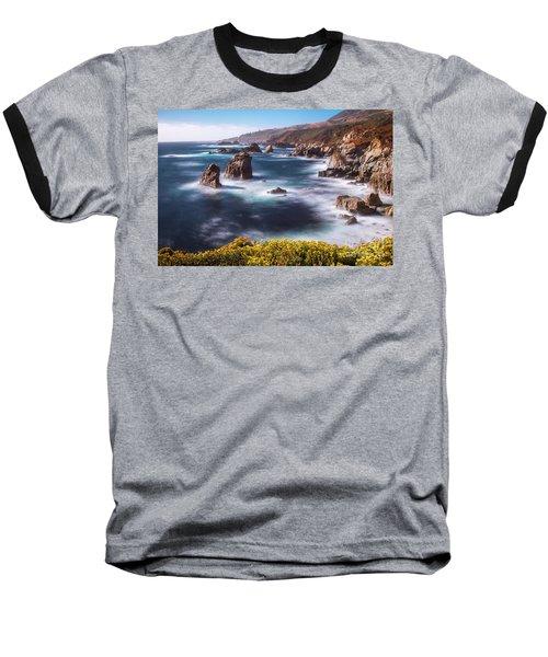 California Coastline  Baseball T-Shirt