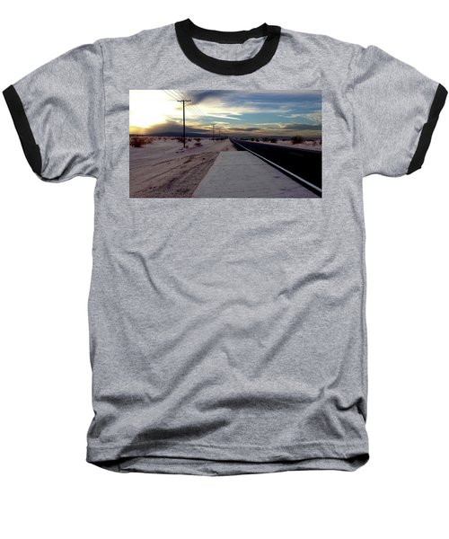 California Desert Highway Baseball T-Shirt by Christopher Woods