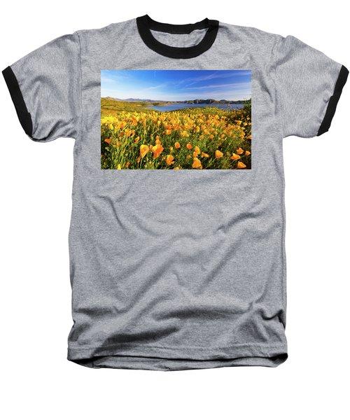 California Dreamin Baseball T-Shirt by Tassanee Angiolillo