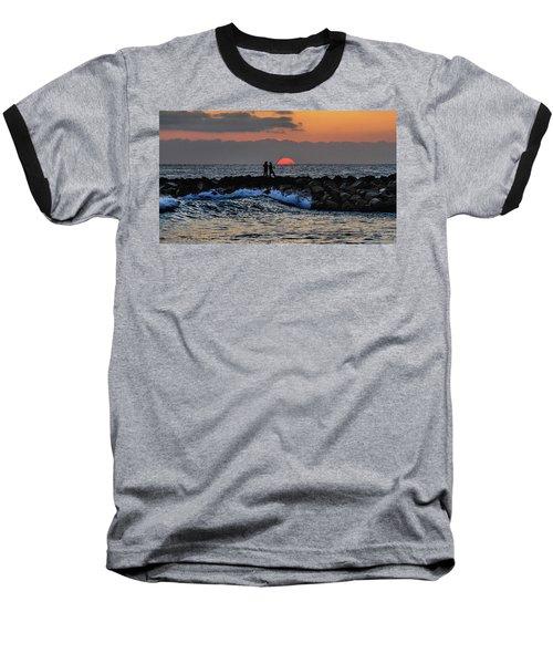 California Evening With Sandstone Effect Baseball T-Shirt