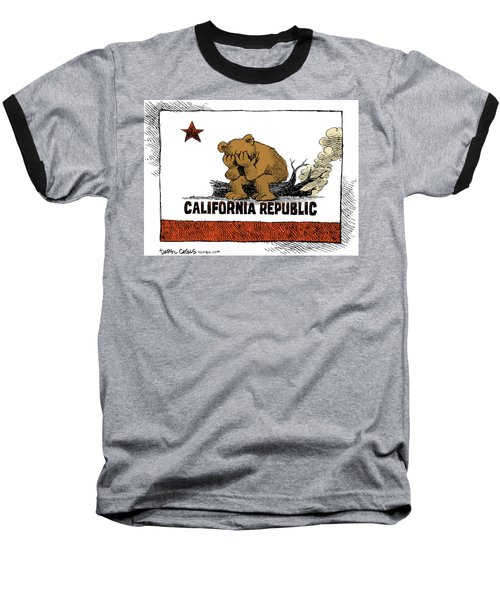 California Fire Bear Grieves Baseball T-Shirt
