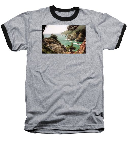 California Highway 1 Coast Baseball T-Shirt by Ted Pollard