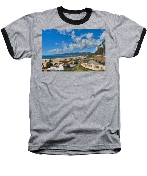 Baseball T-Shirt featuring the photograph California Incline Palisades Park Ca by David Zanzinger