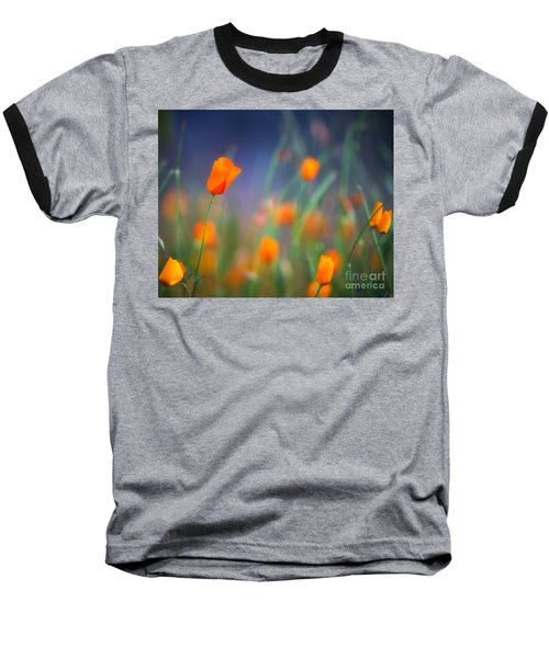 California Poppies 2 Baseball T-Shirt