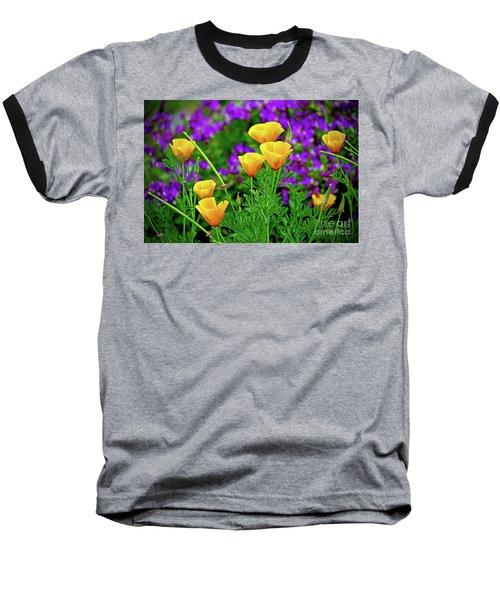 California Poppies Baseball T-Shirt