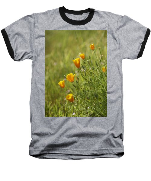 Baseball T-Shirt featuring the photograph California Poppy by Doug Herr