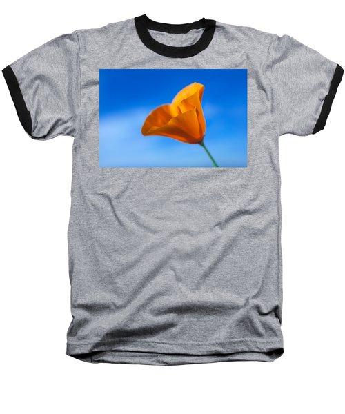 California Poppy Baseball T-Shirt by Ralph Vazquez