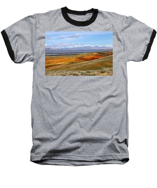 California Poppy Reserve Baseball T-Shirt by Viktor Savchenko
