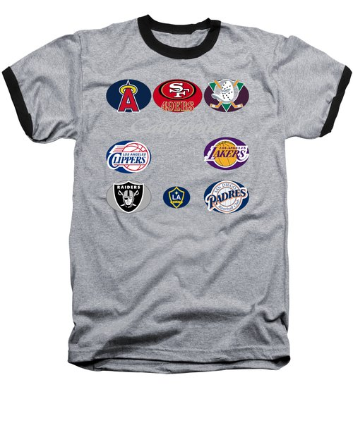 California Professional Sport Teams Collage  Baseball T-Shirt by Movie Poster Prints