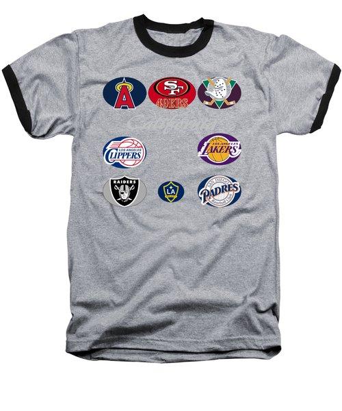 California Professional Sport Teams Collage  Baseball T-Shirt