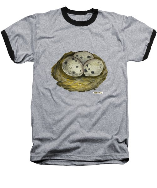 California Quail Eggs In Nest Baseball T-Shirt