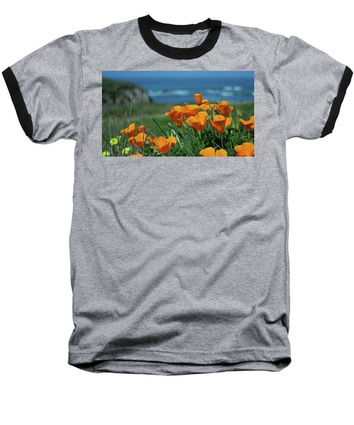 California State Flower - The Poppy Baseball T-Shirt